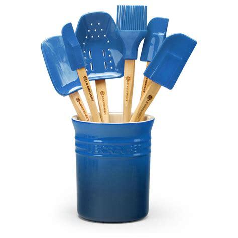 le creuset silicone spatula utensil set  piece marseille cutlery
