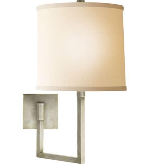 visual comfort bbl2029pwt l barry aspect inch 100 watt pewter finish swing arm wall light