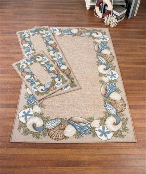themed area rugs new 2 pc seaside seashell tropical themed rug set