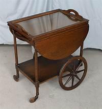 antique tea cart Bargain John's Antiques | Antique Oak Tea Cart with drop ...