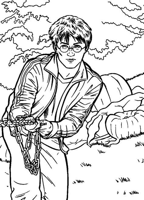 Kleurplaat Harry Potter En De Relieken De Dood by N 25 Kleurplaten Harry Potter En De Gevange