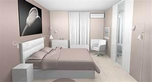 deco chambre taupe et blanc idees pour la maison With good peinture salon 2 couleurs 13 meuble bureau