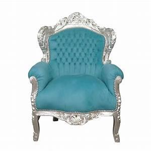 Fauteuil Bleu Turquoise : fauteuil baroque bleu turquoise meuble baroque ~ Teatrodelosmanantiales.com Idées de Décoration