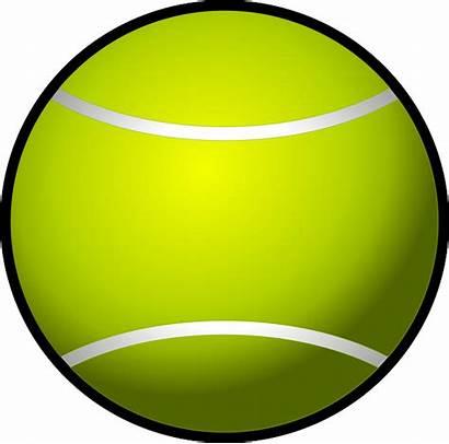 Tennis Ball Clip Clipart Simple Racket Tenis