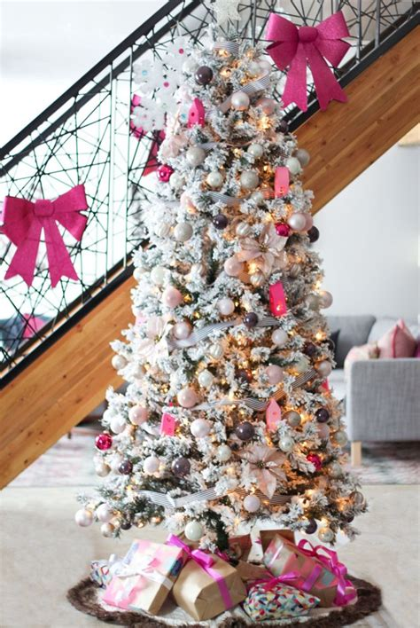 candy pink meets traditional canadian holiday homes tour