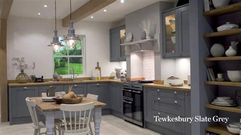 tewkesbury slate grey shaker style kitchen youtube