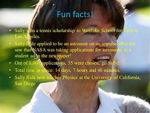 Sally Ride First American Woman in Space - ppt video ...