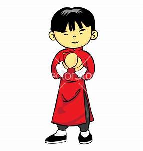 Little Boy clipart chinese boy - Pencil and in color ...