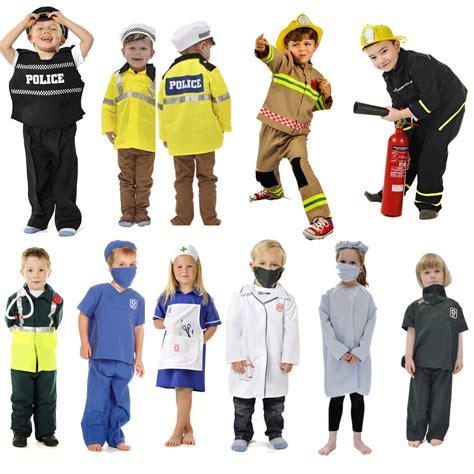 Childrenu2019s Kids Boys Girls Emergency Services Fancy Dress Up Costume Outfit   eBay