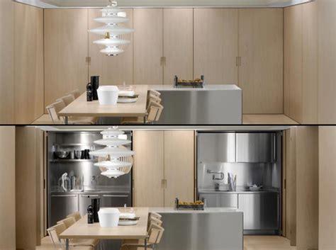 cuisine placard aménagement de cuisine cachée