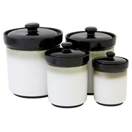 kitchen canister sets walmart sango black 4 pc kitchen canister set walmart
