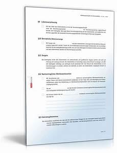 Aufhebungsvertrag Für Ein Arbeitsverhältnis Muster