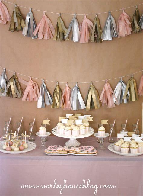 avas pink gold  birthday party project nursery