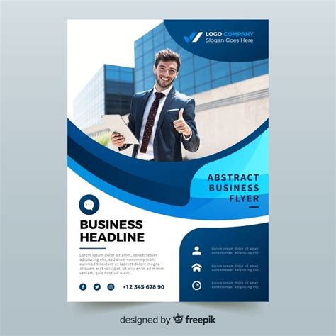 abstract bussiness flyer  photo template