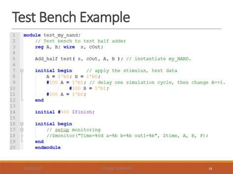 home design exles test bench in verilog exles 28 images vhdl tutorial