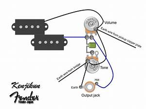 Fender Squier Jazz Bass Wiring Diagram