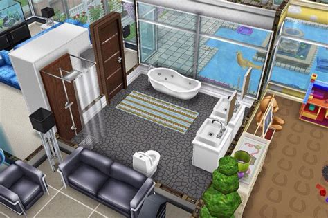 house floor bathroom sims freeplay houses sims play house