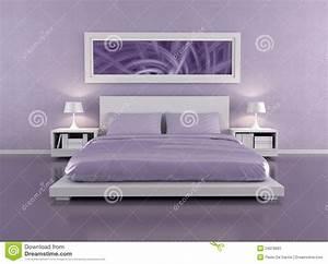 Lila Im Schlafzimmer : lila schlafzimmer stockbild bild 24078691 ~ Markanthonyermac.com Haus und Dekorationen