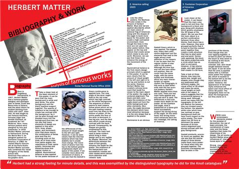 design magazine page project design one page for magazine with styles of herbert matter let s detail it