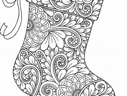 Coloring Christmas Fireplace Pages Stocking Colorings Printable