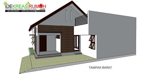 desain rumah simple minimalis  lahan tidak beraturan