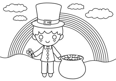 cute st patricks coloring page  clip art