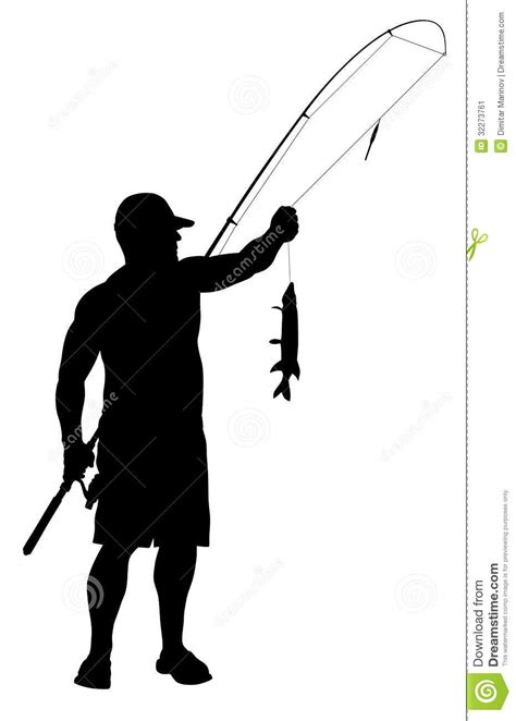 fisherman silhouette vector fisherman stock vector illustration of silhouette
