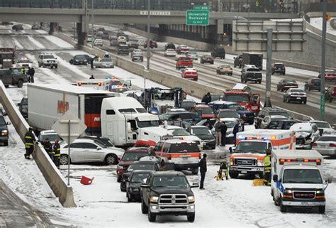 104 Vehicles Involved, 1 Killed, 30