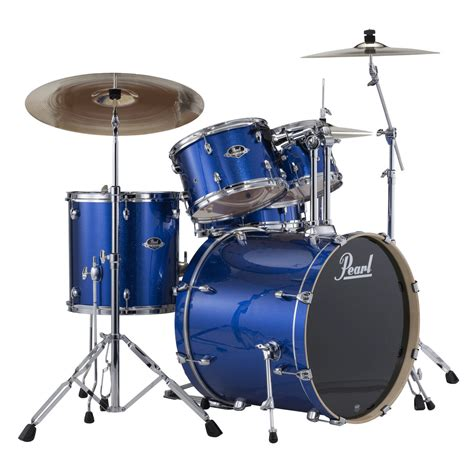 pearl export exx  fusion drum kit blue sparkle