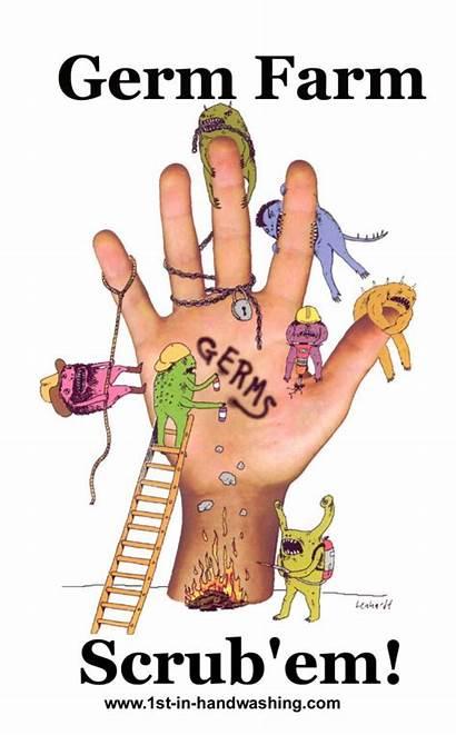 Washing Hand Hygiene Clipart Germ Farm Hands