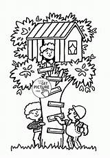 Coloring Summer Tree Fun Pages Treehouse Seasons Printables Printable Colouring Wuppsy Designlooter Az Easy 13kb 1480 Drawings sketch template