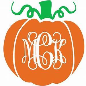 pumpkin monogram vinyl decal With monogram pumpkin templates