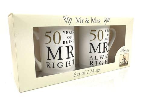50th Golden Wedding Anniversary Gift