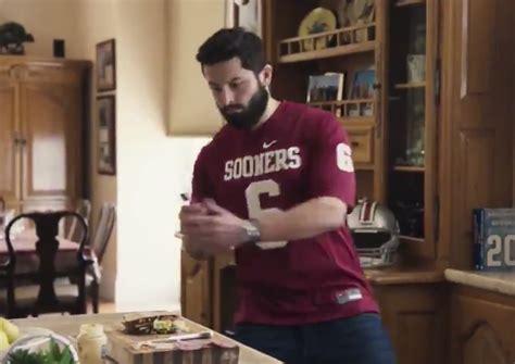 baker mayfields heisman house commercial  upset ohio