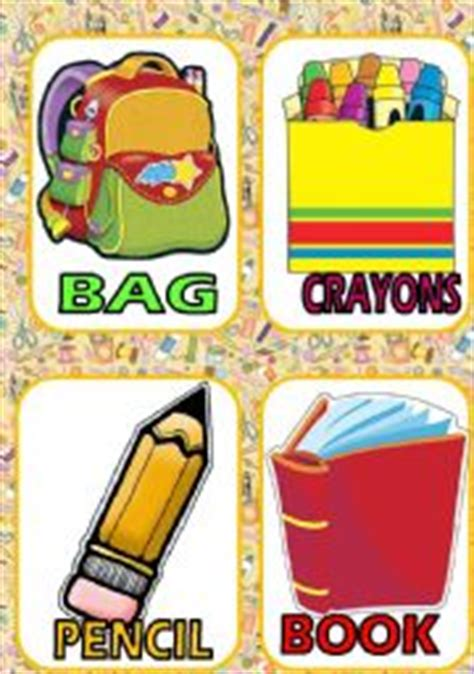 school supplies worksheets