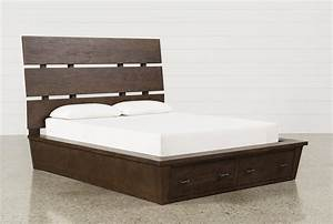 Livingston California King Storage Bed - Living Spaces