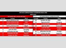 Fixture de Perú en las eliminatorias Rusia 2018 Foros Perú