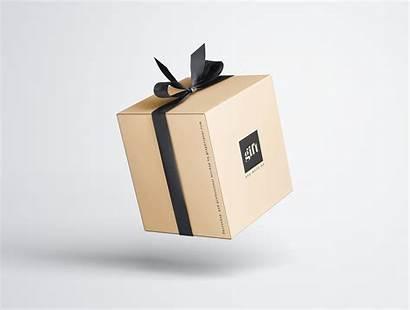 Mockup Box Gift Premium Graphic Behance