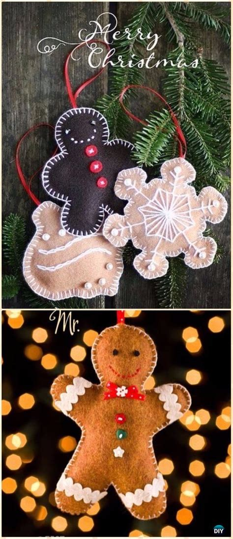diy felt christmas ornament craft projects instructions