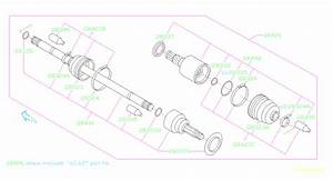 Subaru Forester Bj Shaft And Boot Kit  Shaft Unit   Rear