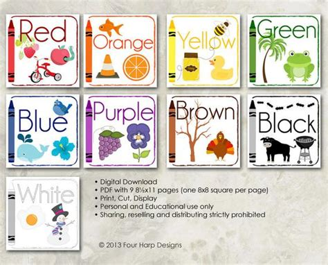 color wall cards diy printable for preschool early 426 | il 570xN.485685412 p5a1