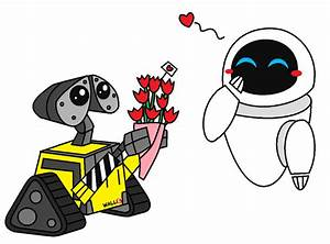 Wall-E and Eve Valentines Day by AleximusPrime on DeviantArt