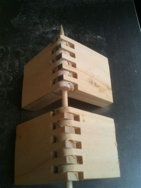 making wooden hinges   finger joint bit