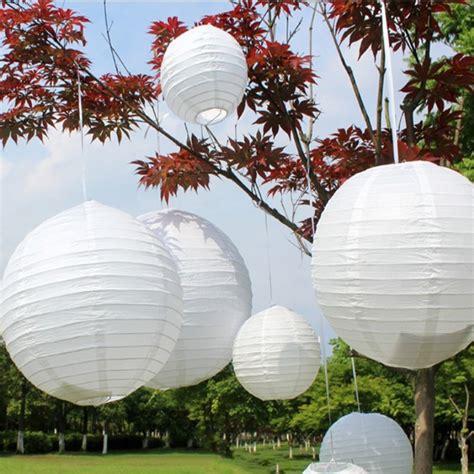 hot sale white color lantern wedding decor round chinese