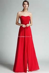 Robe Rouge Mariage Invité : robe longue de mariage mousseline rouge ~ Farleysfitness.com Idées de Décoration