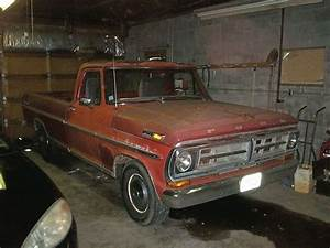 Buy Used 1971 Ford F100 Long Bed  Red  2wd  Manual Brakes