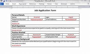 How to create a ms word document using c for User creation form template