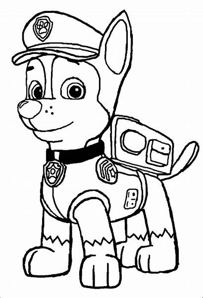 Coloring Patrol Paw Chase Pages Archives