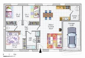 Maison Clé En Main 100 000 Euros : plan de maison 100m2 3 chambres 2aas ~ Melissatoandfro.com Idées de Décoration