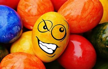 Easter Colorful Decoration Happy Funny Eggs Smile